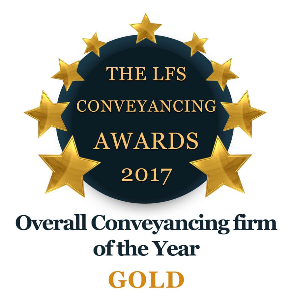 LFS winner Gold logo 2017- overall conveyancing firm of the year